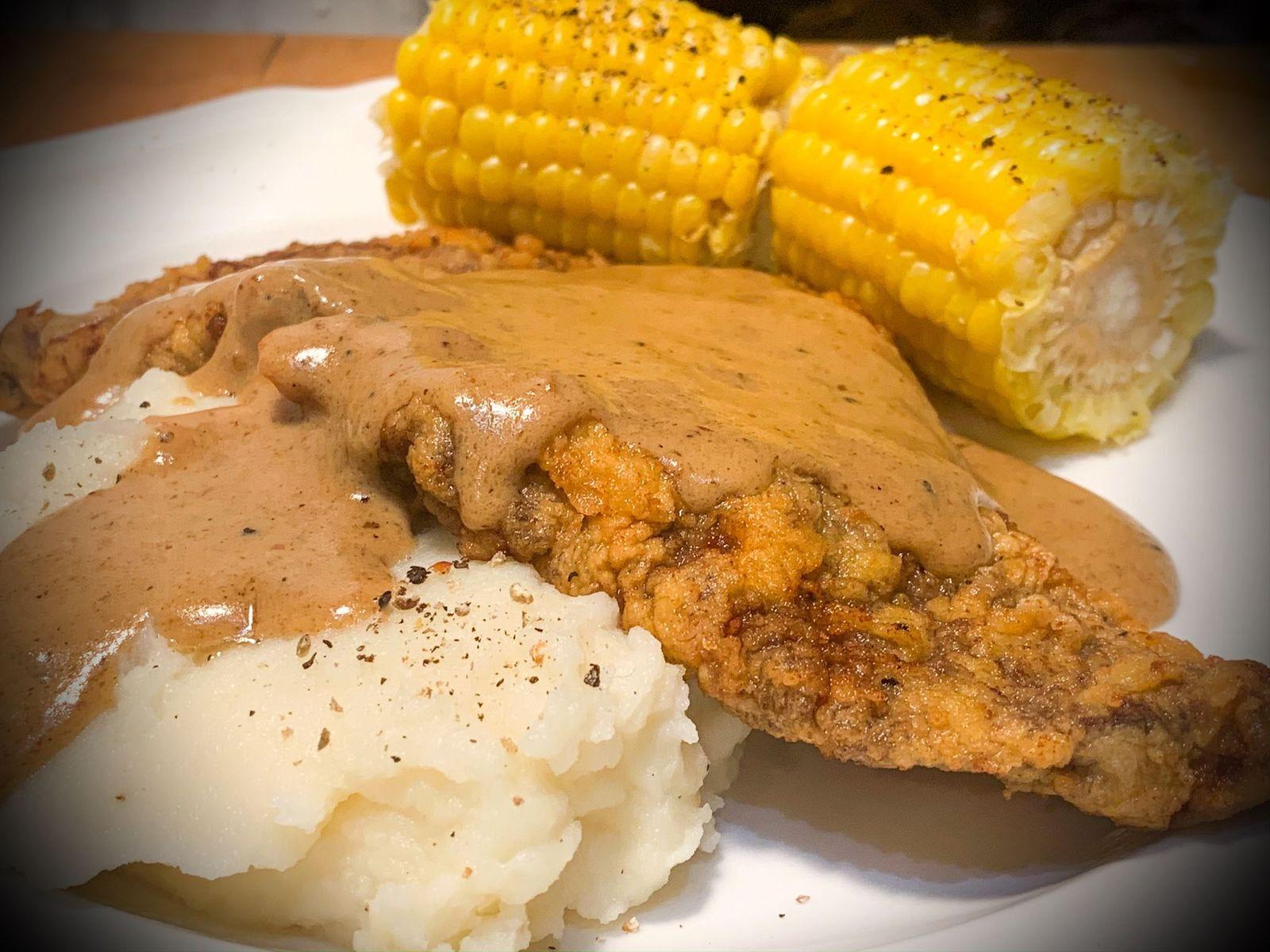 Quarantine dinner #24 Chicken fried steak
